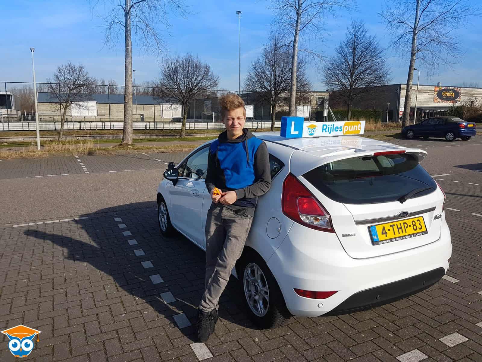 Geslaagd bij Rijlespunt: Asger Moeselaar uit Zaandam